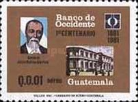 [Airmail - The 100th Anniversary of Banco de Occidente, type AFT]