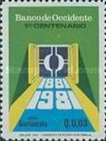 [Airmail - The 100th Anniversary of Banco de Occidente, type AFV]