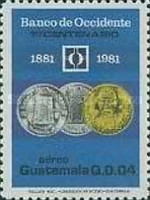 [Airmail - The 100th Anniversary of Banco de Occidente, type AFW]