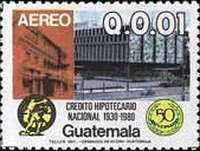 [Airmail - The 50th Anniversary of National Mortgage Bank, type AFX]