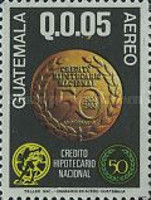 [Airmail - The 50th Anniversary of National Mortgage Bank, type AFZ]