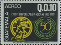 [Airmail - The 50th Anniversary of National Mortgage Bank, type AGA]