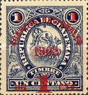 """[Issues of 1897 Overprinted """"CORREOS NACIONALES 1902"""" and Surcharged, type AH]"""