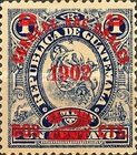 """[Issues of 1897 Overprinted """"CORREOS NACIONALES 1902"""" and Surcharged, type AH1]"""