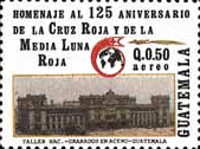 [Airmail - The 125th Anniversary of International Red Cross, type AJN]