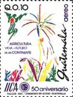[Airmail - The 50th Anniversary of International Institute for Agricultural Co-operation, type AJV]