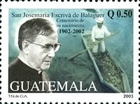 [The 100th Anniversary of the Birth of Josemaria Escriva de Balaguer, Founder of Opus Dei, Religious Organization, 1902-1975, type AMJ]