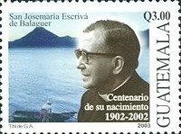 [The 100th Anniversary of the Birth of Josemaria Escriva de Balaguer, Founder of Opus Dei, Religious Organization, 1902-1975, type AMK]