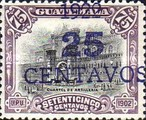 [National Symbols - Stamps of 1902-1921 With Blue Surcharge, type AR2]