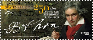[The 250th Anniversary of the Birth of Ludwig van Beethoven, 1770-1827, type AWP]