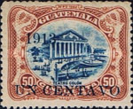 """[National Symbols - Issues of 1902/1907 Overprinted """"1913"""" and Surcharged, type BP]"""