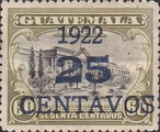 [National Symbols - Stamps of 1902-1921 With Blue Surcharge, type BW1]