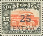 [National Symbols - Stamps of 1918 and 1921 Surcharged, type CI1]