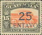 [National Symbols - Stamps of 1918 and 1921 Surcharged, type CI3]