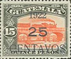 [National Symbols - Stamps of 1918 and 1921 Surcharged, type CI5]