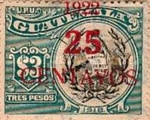 """[National Symbols - Various Stamps Overprinted """"1922/25/CENTAVOS"""", type CR]"""