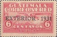 """[Airmail - Issue of 1930 Overprinted """"EXTERIOR - 1931"""", type FQ]"""