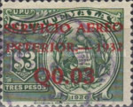 """[Airmail - Issues of 1926 Overprinted """"SERVICIO AEREO INTERIOR 1932"""" and Surcharged, type FY]"""