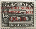"""[Airmail - Issues of 1926 Overprinted """"SERVICIO AEREO INTERIOR 1932"""" and Surcharged, type FZ]"""