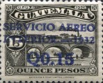 """[Airmail - Issues of 1926 Overprinted """"SERVICIO AEREO INTERIOR 1932"""" and Surcharged, type GA]"""