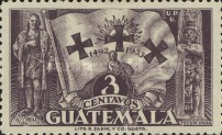 [The 441st Anniversary of Departure of Columbus from Palos, type GD3]