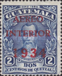 """[Airmail - Issue of 1929 Overprinted """"AEREO INTERIOR 1934"""", type GE]"""