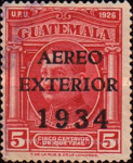 """[Airmail - Issues of 1929 Overprinted """"AERO EXTERIOR 1934"""", type GF]"""