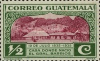 [The 100th Anniversary of the Birth of General Justo Ruffino Barrios, President of Guatemala, 1835-1885, type GH]