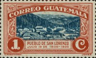 [The 100th Anniversary of the Birth of General Justo Ruffino Barrios, President of Guatemala, 1835-1885, type GI]