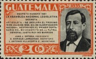 [The 100th Anniversary of the Birth of General Justo Ruffino Barrios, President of Guatemala, 1835-1885, type GJ]