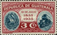 [The 100th Anniversary of the Birth of General Justo Ruffino Barrios, President of Guatemala, 1835-1885, type GK]