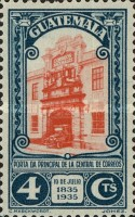[The 100th Anniversary of the Birth of General Justo Ruffino Barrios, President of Guatemala, 1835-1885, type GL]