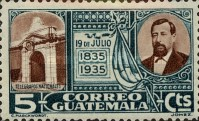 [The 100th Anniversary of the Birth of General Justo Ruffino Barrios, President of Guatemala, 1835-1885, type GM]