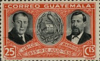 [The 100th Anniversary of the Birth of General Justo Ruffino Barrios, President of Guatemala, 1835-1885, type GP]