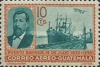 [Airmail - The 100th Anniversary of the Birth of General Justo Ruffino Barrios, President of Guatemala, 1835-1885, type GQ]