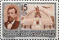 [Airmail - The 100th Anniversary of the Birth of General Justo Ruffino Barrios, President of Guatemala, 1835-1885, type GR]