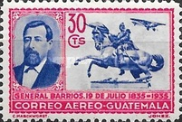 [Airmail - The 100th Anniversary of the Birth of General Justo Ruffino Barrios, President of Guatemala, 1835-1885, type GS]