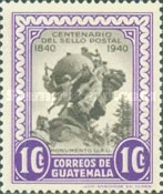 [The 100th Anniversary of First Postage Stamps 1940, type MW]