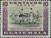 [Airmail - The 4th Central American and Caribbean Football Championship Games, type NG2]