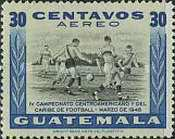 [Airmail - The 4th Central American and Caribbean Football Championship Games, type NG3]