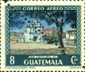 [Airmail - Tourism - Stamp of 1950 Halved and Used as 4 Cent, type NQ1]