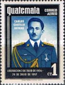 [Airmail - President Castillo Armas Commemoration, 1914-1957 - Issue of 1956 but Inscribed