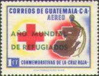 """[Airmail - World Refugee Year - Issues of 1958 Overprinted """"ANO MUNDIAL DE REFUGIADOS"""" or Surcharged also, type RI]"""