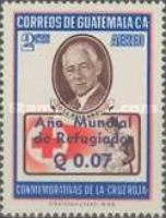 """[Airmail - World Refugee Year - Issues of 1958 Overprinted """"ANO MUNDIAL DE REFUGIADOS"""" or Surcharged also, type RJ1]"""