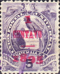 """[Issue of 1887-1895 Overprinted """"1895 - 1 CENTAVO"""", type V]"""