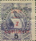 """[Various Stamps Overprinted """"1898, Bar and 1 Centavo"""" and Surcharged, type Z]"""