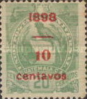 """[Various Stamps Overprinted """"1898, Bar and 1 Centavo"""" and Surcharged, type Z4]"""