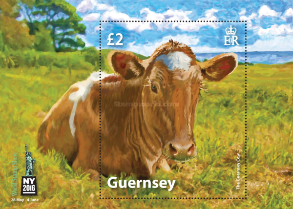 [World Stamp Show NY 2016, New York, USA - The Golden Guernsey Cow, Typ ]