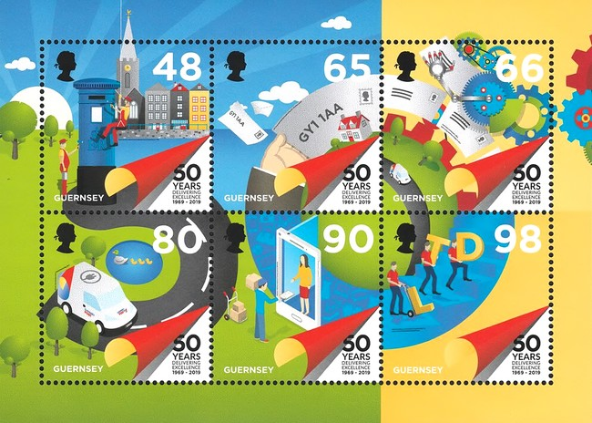 [The 50th Anniversary of Guernsey Postal Independence, Typ ]