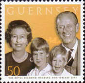 [60th Anniversary of Queen Elizabeth II and Prince Philip, Typ AQL]